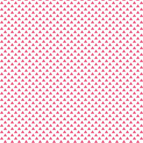triangles hot pink fabric by misstiina on Spoonflower - custom fabric