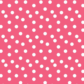 dot // pink fabric cute dots polka dot girls sweet dots