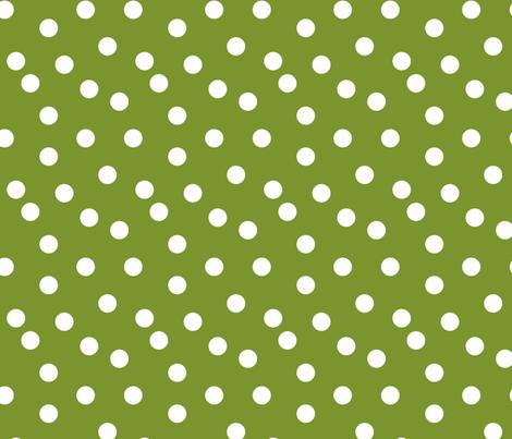 Polka Dots - Moss Green by Andrea Lauren fabric by andrea_lauren on Spoonflower - custom fabric
