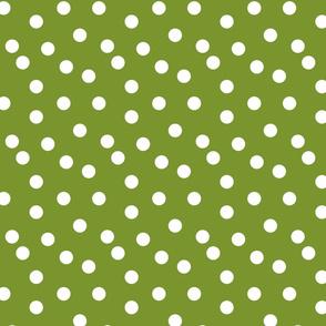 Polka Dots - Moss Green by Andrea Lauren