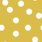 Polka Dots - Mustard by Andrea Lauren