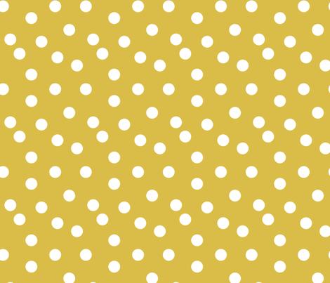 Polka Dots - Mustard by Andrea Lauren fabric by andrea_lauren on Spoonflower - custom fabric