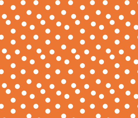 Polka Dots - Orange by Andrea Lauren fabric by andrea_lauren on Spoonflower - custom fabric