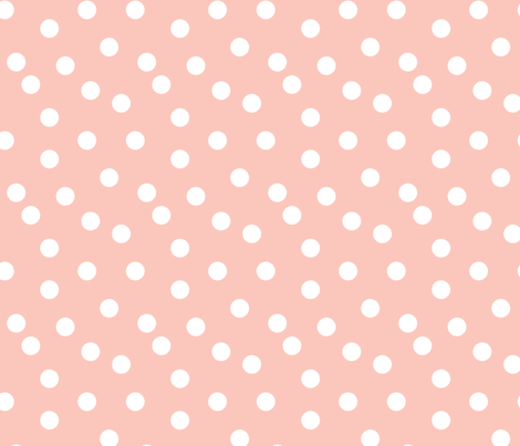 dots // pink baby nursery baby pink cute polka dot dots spots  fabric by andrea_lauren on Spoonflower - custom fabric