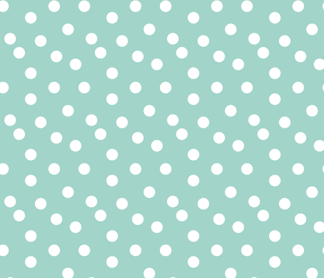 dots // mint dot spots polka dot baby nursery simple dot mint and white fabric for nursery fabric by andrea_lauren on Spoonflower - custom fabric