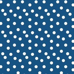 Polka Dots - Denim Blue by Andrea Lauren