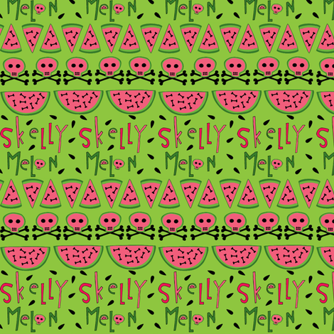 skelly melon fabric by skellychic on Spoonflower - custom fabric