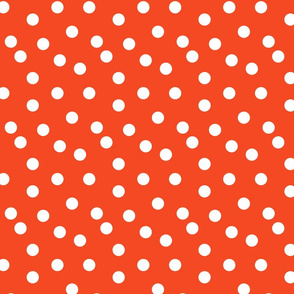 Polka Dots - Vermillion by Andrea Lauren