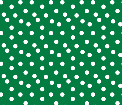Polka Dots - Kelly Green by Andrea Lauren fabric by andrea_lauren on Spoonflower - custom fabric