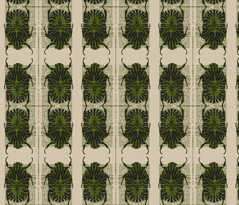 Olive Beetle fabric by tallulah92 on Spoonflower - custom fabric