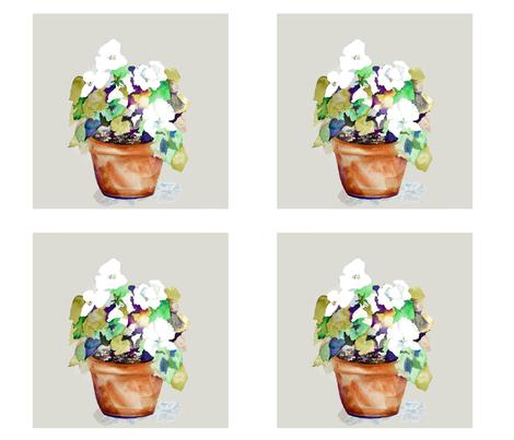 "Petunia 8"" blocks fabric by karenharveycox on Spoonflower - custom fabric"