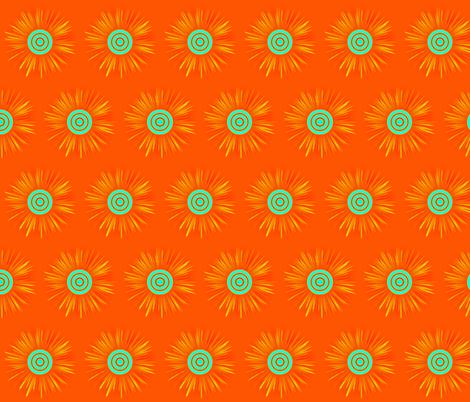 starburst-orange fabric by mammajamma on Spoonflower - custom fabric