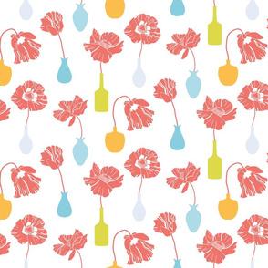 Poppies-white