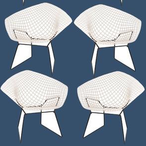 Bertoia Chairs / Navy