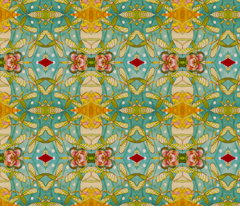 Garden Beetles fabric by rainjule on Spoonflower - custom fabric