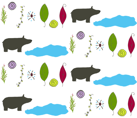 Hiking Bear Country fabric by therustichome on Spoonflower - custom fabric
