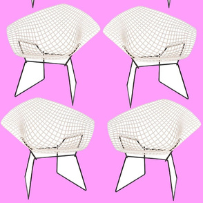 Bertoia Chairs / Hot Pink
