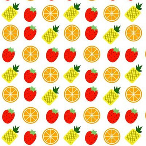 Pineapples, Oranges, and Strawberries