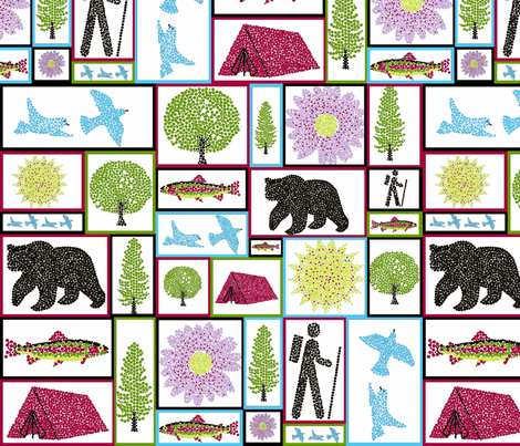 hiking_with_palette-ch-ch fabric by ottdesigns on Spoonflower - custom fabric