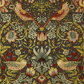 William Morris ~ Strawberry Thief ~ Autumn Linen