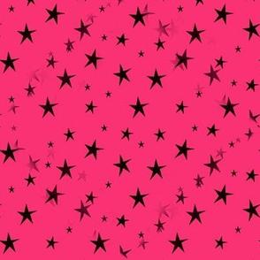 Black Stars on Hot Pink