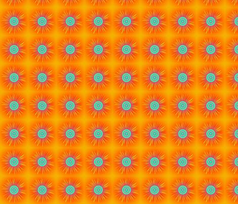 starburst-orangewithpurple fabric by mammajamma on Spoonflower - custom fabric