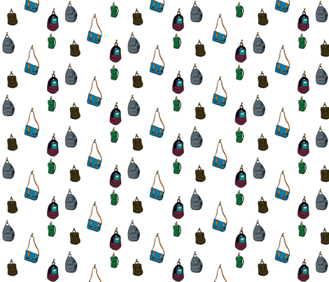Backpacks fabric by svaeth on Spoonflower - custom fabric