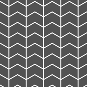 chevron // charcoal - Woodland Collection