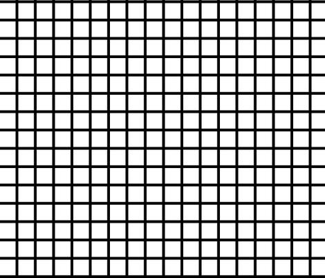 Grid - White/Black by Andrea Lauren fabric by andrea_lauren on Spoonflower - custom fabric