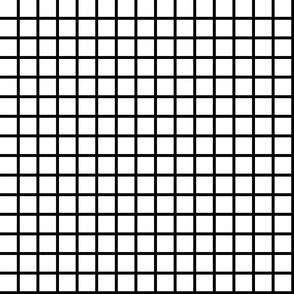 Grid - White/Black by Andrea Lauren