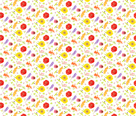 Summer Cutting Garden fabric by blairfully_made on Spoonflower - custom fabric