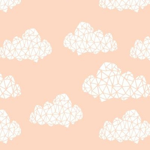 cloud // geometric blush fabric clouds fabric nursery baby baby fabric