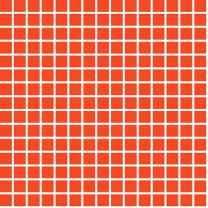 Grid - Vermillion by Andrea Lauren