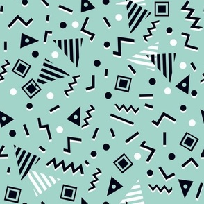 zig zag // memphis tri triangles 80s 90s mint nursery kids trendy edgy