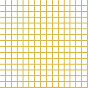 Grid  - White/Mustard by Andrea Lauren