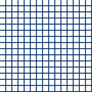 Grid - White/Navy by Andrea Lauren