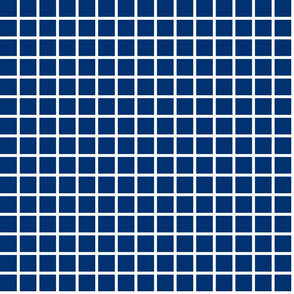 Grid - Navy by Andrea Lauren