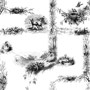 The Child's Garland of Little Poems ~ Black and White