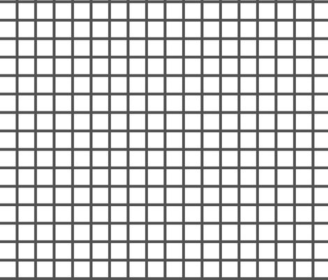 Grid - White/Charcoal by Andrea Lauren fabric by andrea_lauren on Spoonflower - custom fabric