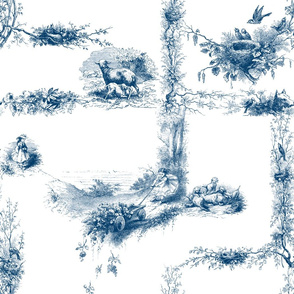 The Child's Garland of Little Poems ~ Blue and White