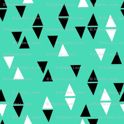 Triangles Coordinate - Light Jade by Andrea Lauren