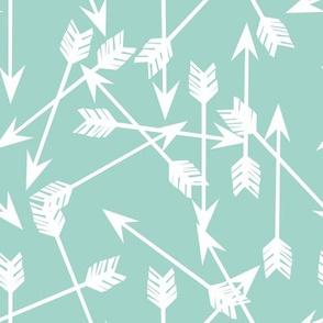 arrows scattered // mint pastel southwest baby nursery