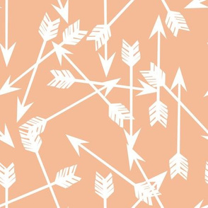 arrows scattered // peach pastel arrows for little girls prints