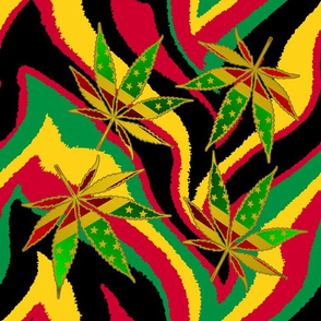 Rasta_wavy_zebra_leaves_Best_14_inches_square_150dpi
