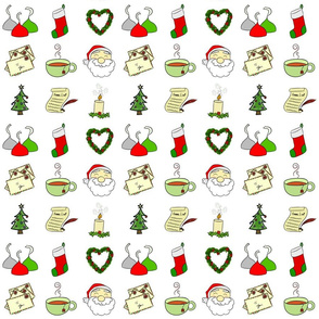 Christmas Doodle Fabric