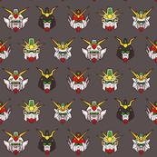 Gundam Wing Gundams heads