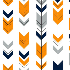 Arrows Orange/Navy/Grey