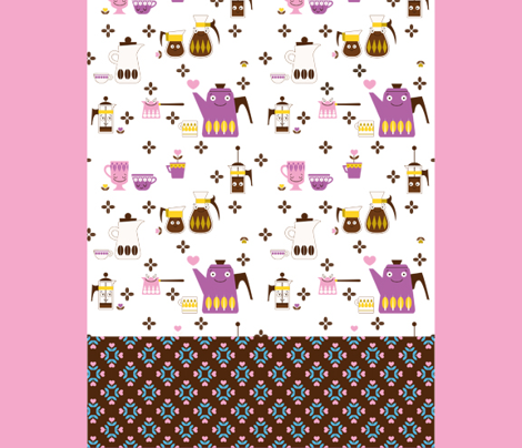 Coffee! Cut and Sew Tea Towel II