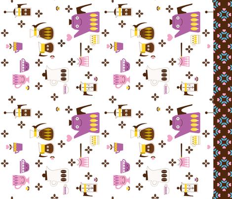 Coffee! Cut and Sew Tea Towel II fabric by michalwright-ward on Spoonflower - custom fabric