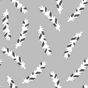Feathers - Slate by Andrea Lauren